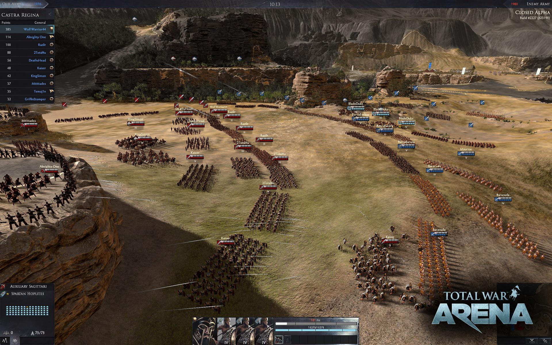 Total War arena beta code