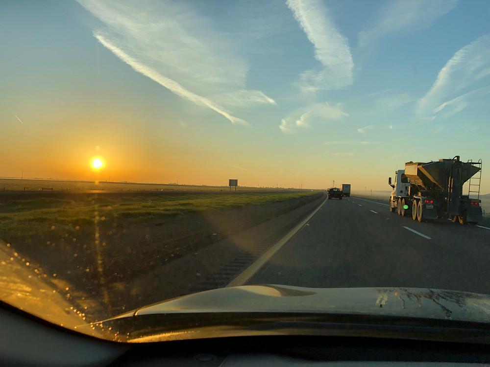 On the road to Santa Ana, I-5 South
