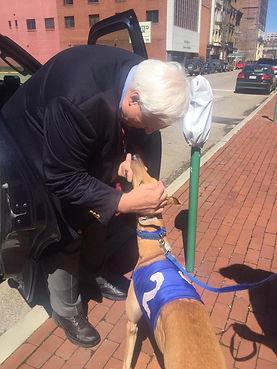 Governor Jim Justice greyhound