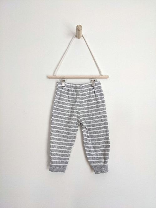 Carter's Grey Striped Comfy Pants (12M)