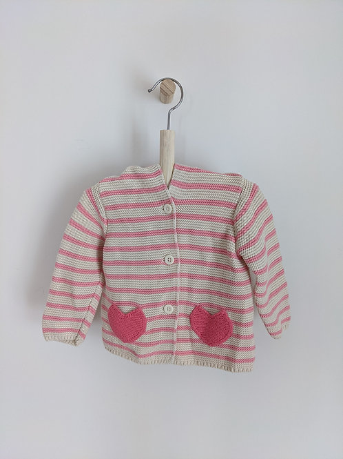 Gap Striped Knit Sweater (6-12m)