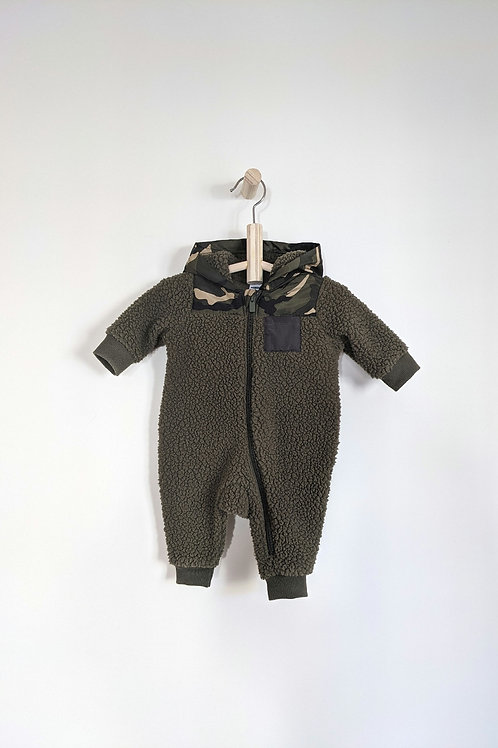 Old Navy Camo Sherpa Bunting (0-3M)
