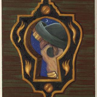 El Sombrerón a tráves del ojo de la cerradura