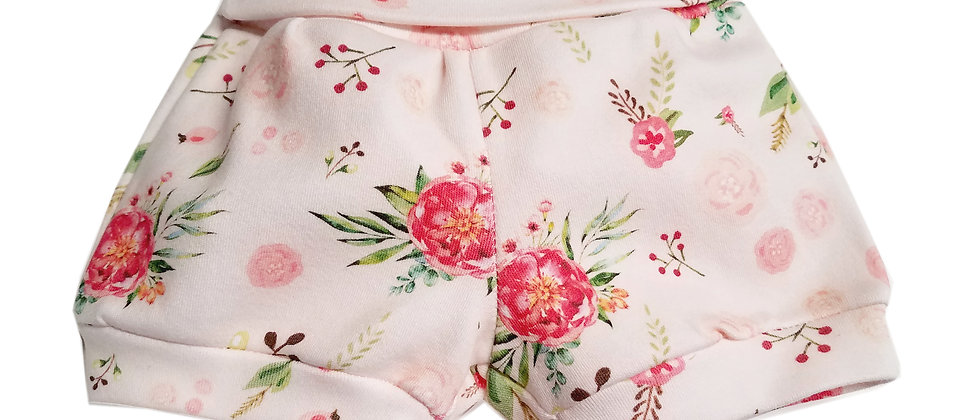 100% Organic Cotton Soft Pink Floral Baby Bloomers