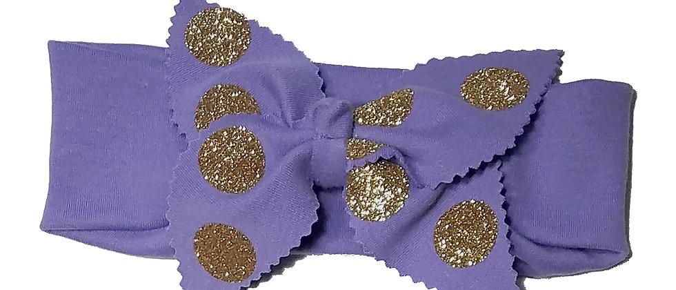 Glitter Gold Polka dots Headband