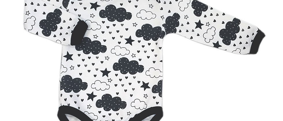 Clouds with Hearts Bodysuit / 2 pcs.