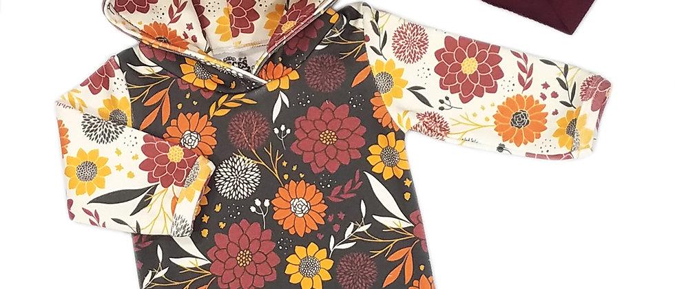 Fall Flower Hoodie Bodysuit