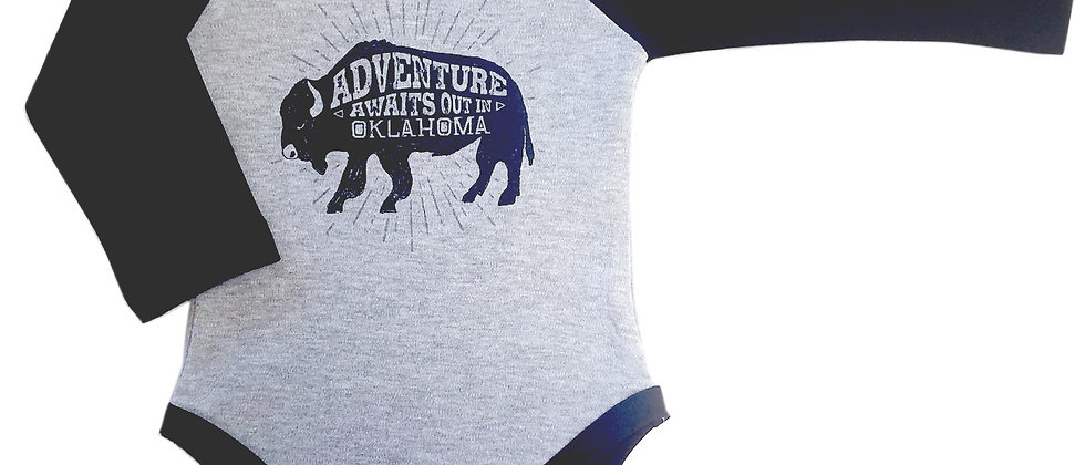 """""""Adventure Awaits Out In Oklahoma"""" Infant Bodysuit"""