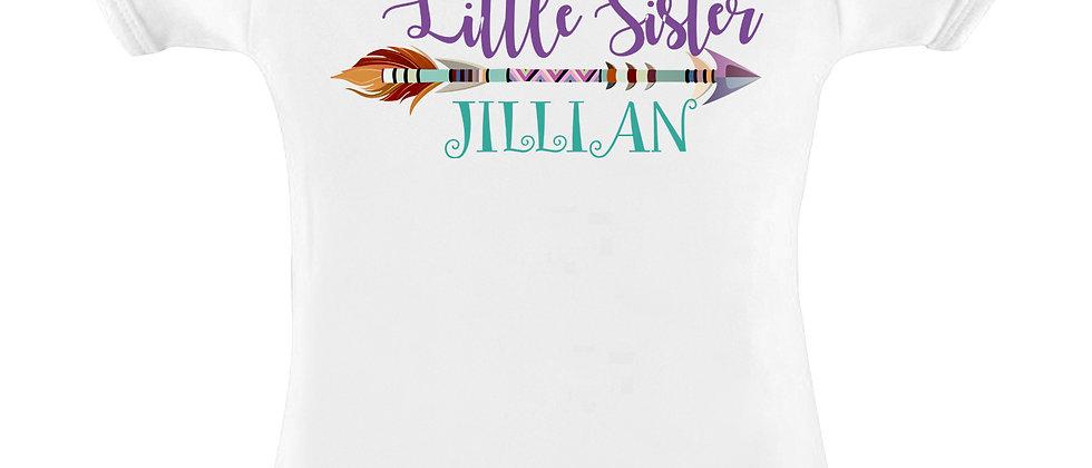 """""""LITTLE SISTER"""" with Decorative Arrow Infant Bodysuit"""