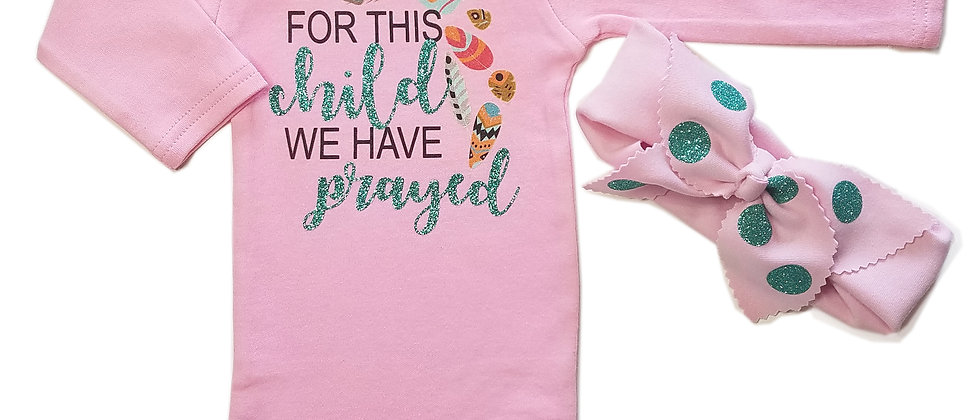 """""""FOR THIS CHILD WE HAVE PRAYED"""" Infant Bodysuit"""