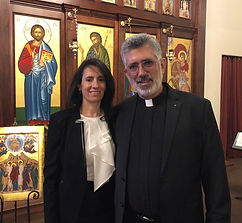 Kh. Randa and Fr. Mansour Azar.JPG