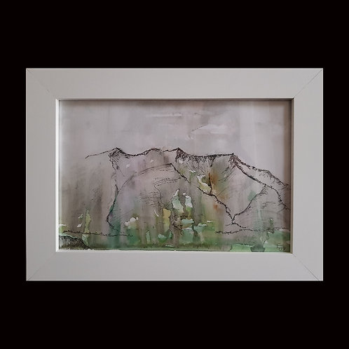 Original watercolour and ink painting. Framed