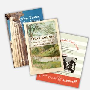Book Designs for Memoirs, Cookbooks