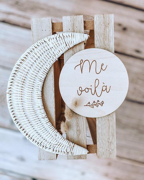 """Pancarte """"Me voilà"""""""