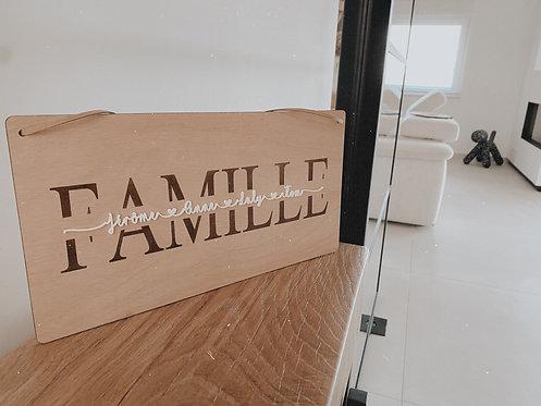 Pancarte famille