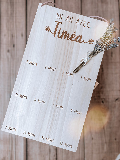 """Pancarte """"1 an avec"""""""