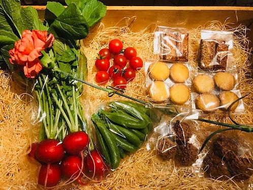 母の日 焼き菓子と野菜のセット