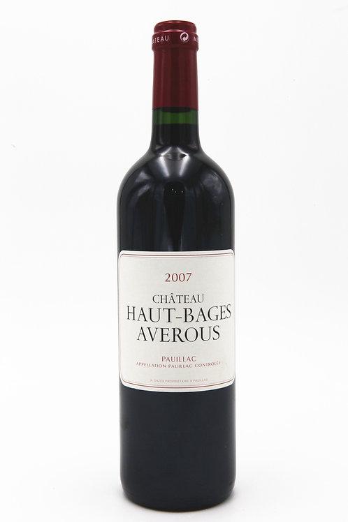 法國靚次伯 Haut Bages Averous 2007