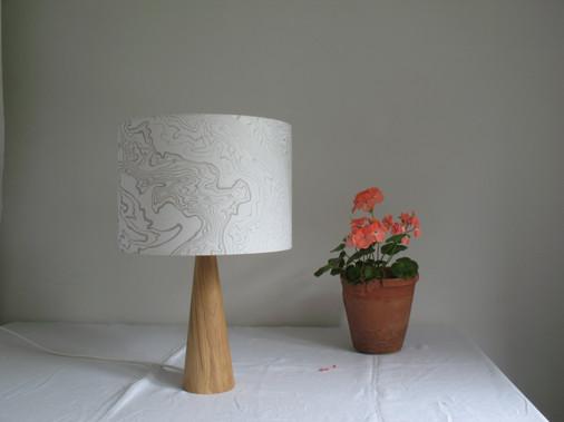 30 cm suminagashi lampshade