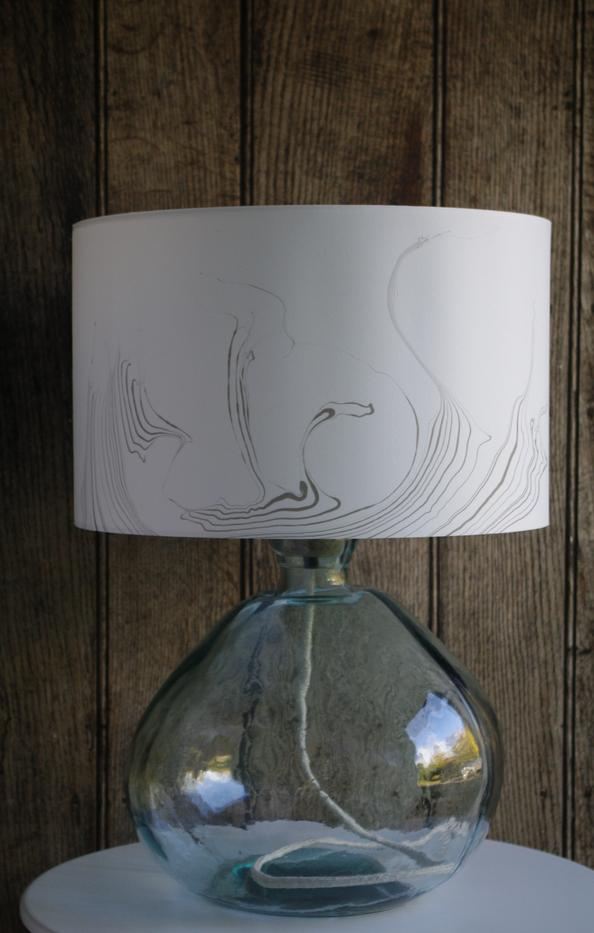 40 cm suminagashi lampshade