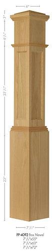 4092 Poplar Flat Panel Box Newel Post