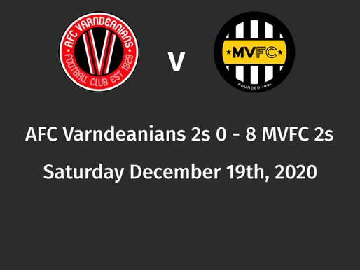 Post match review, AFC Varndeanians 2s 0 - 8 MVFC 2s