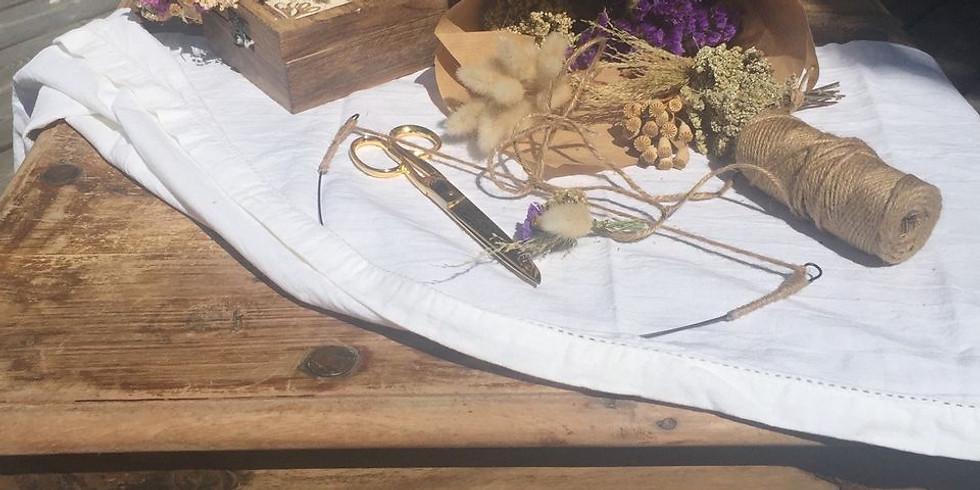 Fabrication de couronne en fleurs séchées: cheveux ou murale
