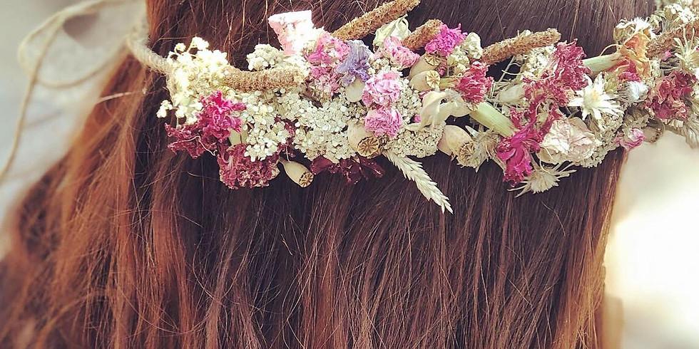 Fabrication d'une couronne automnale: fleur rousse, fleur folle!