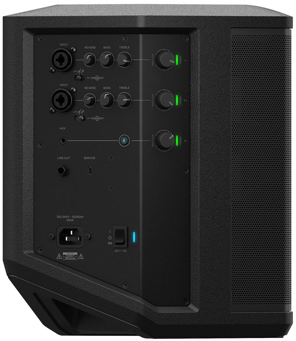 Vielfältige Anschlussmöglichkeiten der Bose S1 Pro