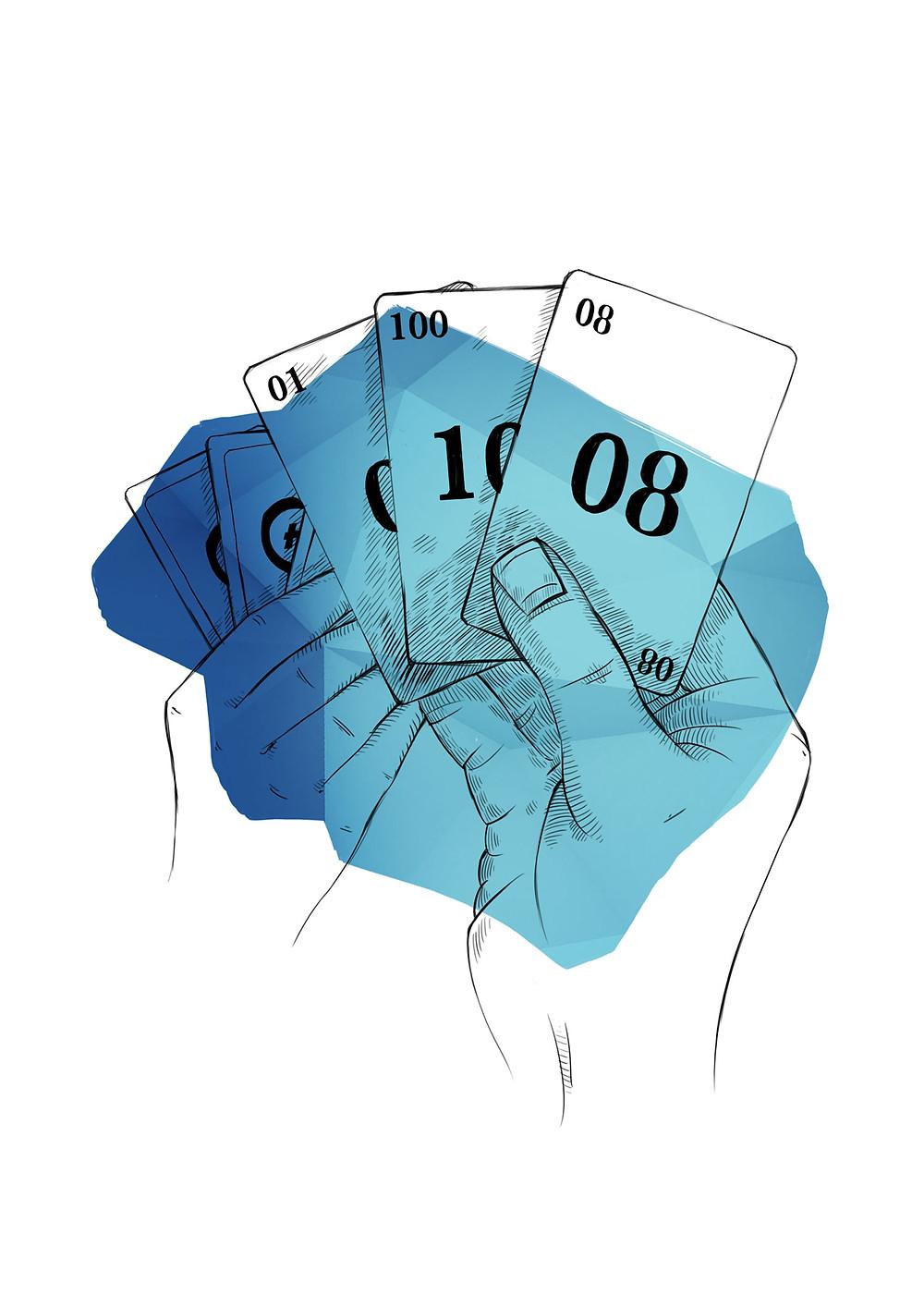 Planning Poker Karten, Agile Estimation Game