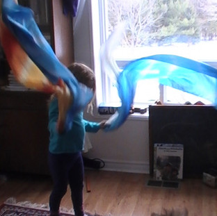 Ages 4-6. The Dance of the Butterfly Scarf Dance
