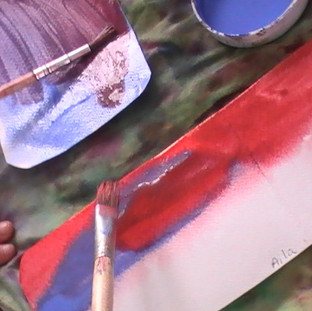 Wet on wet water color painting
