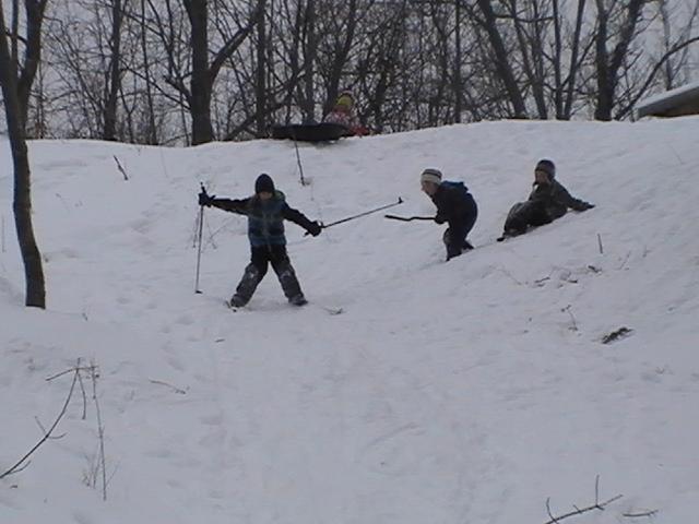 Toboggan and ski hill
