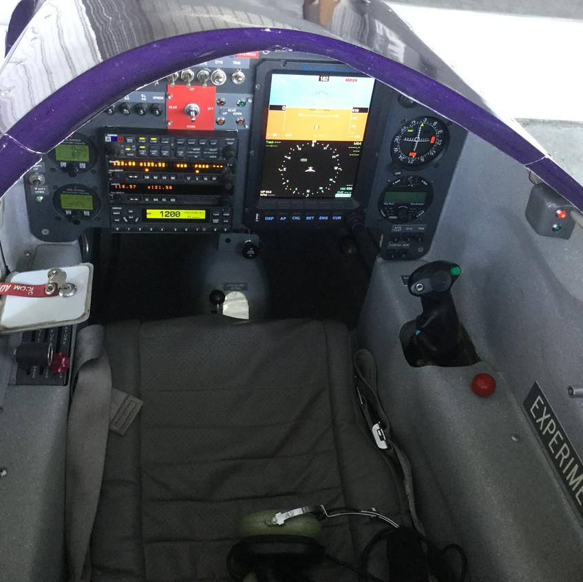 Purple-Long-Eze-Canard-control-panel