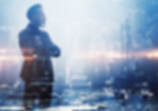 Double exposure photo a businessman and