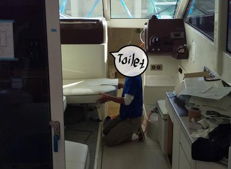 船内家具③・・toilet door