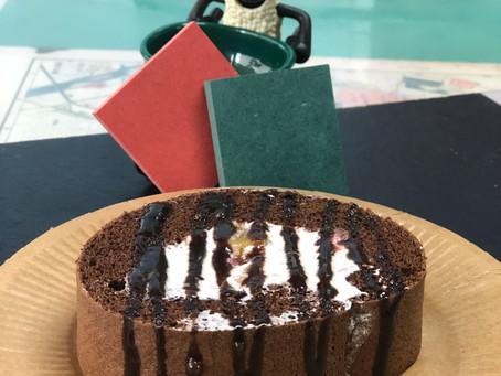 まさに、Christmas!♥チョコロールケーキ。