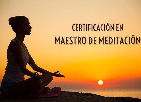 """Certificación en """"Maestro de Meditación"""""""