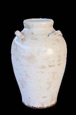 Cream Ceramic Urn &Handless Large