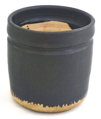 Pot Black Natural Bottom