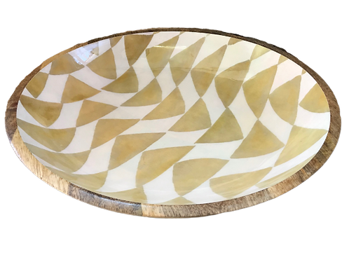 Bowl Round Gold Triangles