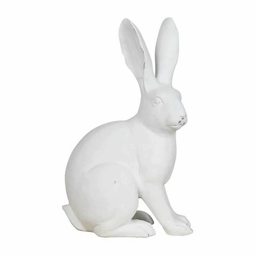 White Polyresin Sitting Bunny