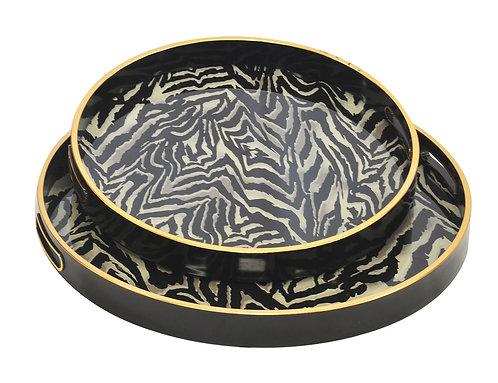 Glass Zebra Tray