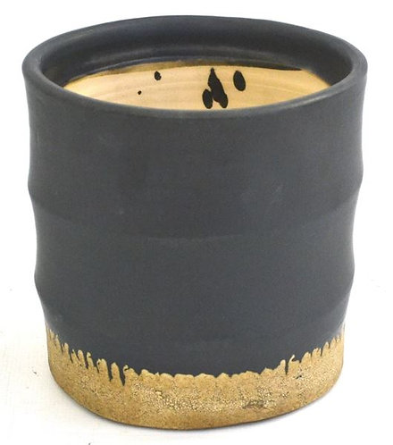 Pot Black with Natural Bottom