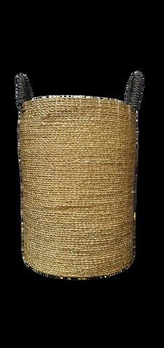 Gold Basket With Black Handles