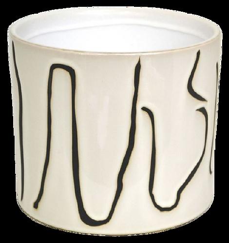 Planter Medium Black Sguiggles