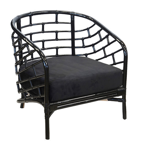 Sydney Barrel Chair in Black