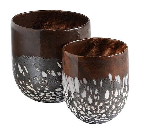 Porcupine Glass Votive Set of 2