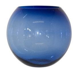 Alexis Blue  Ball Vase
