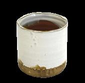 Pot White Glaze Natural Base (S)